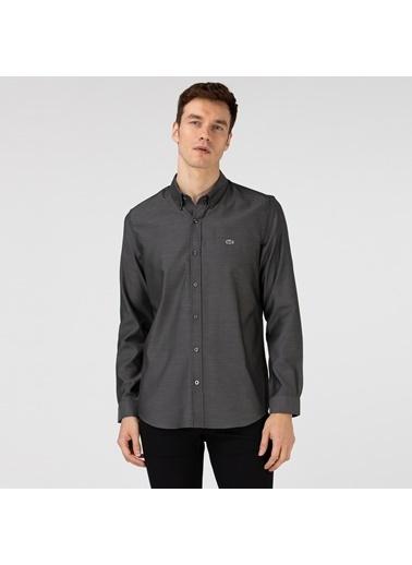 Lacoste Erkek Slim Fit Gömlek CH0101.01S Siyah